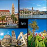 City Of Split Nature And Architecture Collage Art Print