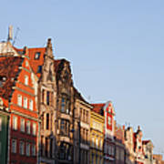 City Of Wroclaw Old Town Skyline At Sunset Art Print