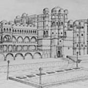 City Palace Of Udaipur  Art Print