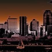 City Sailin 2 Art Print