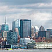City - Skyline - Hoboken Nj - The Ever Changing Skyline Art Print