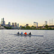 City Skyline - Philadelphia On The Schuylkill River Art Print