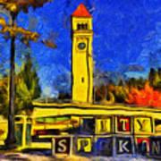 City Spokane - Riverfront Park Art Print