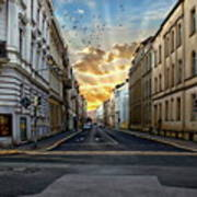 City Street View Art Print