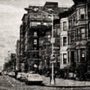 City Streets In Grunge Art Print