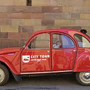 City Tour Car Strasbourg France Art Print