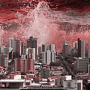 City Under Water Art Print