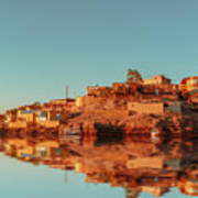 Cityscape For The Beautiful Nubian City Aswan In Egypt At The Golden Hour Of The Sunset Time. Art Print