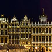 Cityscape In Brussels Europe - Landmark Of Brussels, Belgium Art Print