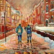 Cityscape In Winter Art Print
