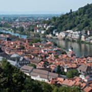 Cityscape  Of Heidelberg In Germany Art Print