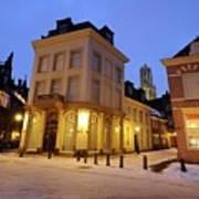 Cityscape Of Utrecht In The Evening At Pausdam 5 Art Print