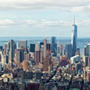 Cityscape View Of Manhattan, New York City. Art Print