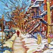 Cityscene In Winter Art Print