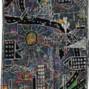 Citysun 2 Art Print