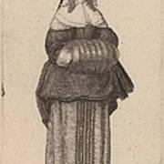 Ciuis Aut Mercatoris Antuerpiensis Vxor Art Print