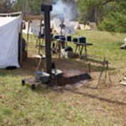 Civil War Camp Stove And Mess Art Print