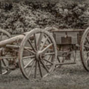 Civil War Cannon And Limber Art Print