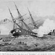 Civil War: Merrimac (1862) Art Print