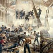 Civil War Naval Battle Art Print