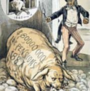 Civil War Pensions, 1888 Art Print