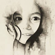 Claire Black And White Art Print
