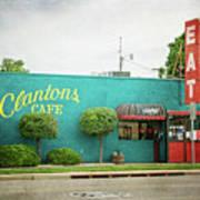 Clanton's Cafe Art Print