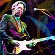 Clapton Live Art Print by David Lloyd Glover