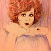 Clara, Redhead Art Print