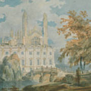 Clare Hall And Kings College Chapel, Cambridge  Art Print