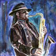 Clarence Clemons Art Print by Clara Sue Beym
