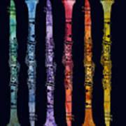 Clarinet Rainbow Art Print by Jenny Armitage