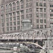 Clark Street Bridge Art Print
