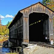 Clark's Trading Post Railroad Covered Bridge Art Print