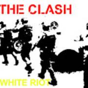 Clash White Riot  Art Print