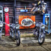 Classic British Bikes Art Print