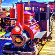 Classic Calico Train Art Print