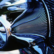 Classic Car Chrome Abstract Reflected Grill Art Print