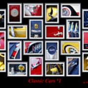 Classic Car Montage Art 1 Art Print