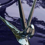 Classic Car Packard Silver Goose Art Print