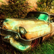 Classic Country Cadillac Painting  Art Print