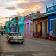 Classic Cuba Cars X1 Art Print