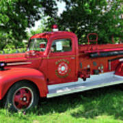 Classic Fire Truck Art Print