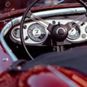 Classic Ford Convertible Interior Art Print
