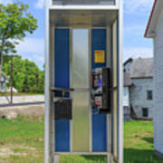 Classic Pay Phone Booth Art Print