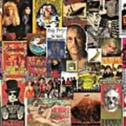 Classic Rock 2 Collage Art Print