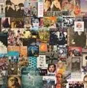 Classic Rock Lp Collage 1 Art Print