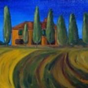 Classic Tuscan Sunset Art Print