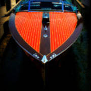 Classic Wooden Boat Art Print by Perry Webster