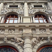 Classical Decorative Building Facade In Vienna Art Print